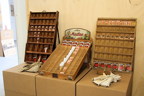 Old seed displays in the Gardening Museum - Gaissmayer Nursery