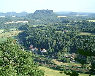 View from the Elbe Sandstone Mountains