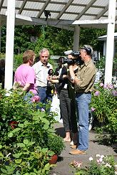 TV Interview at Sofianlehto Garden Centre