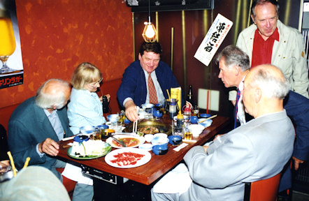 Meelis Kaus (centre) in Japan, 1997