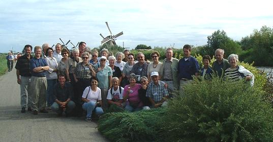 Group photo at Kinderdijk©K.Woolfenden